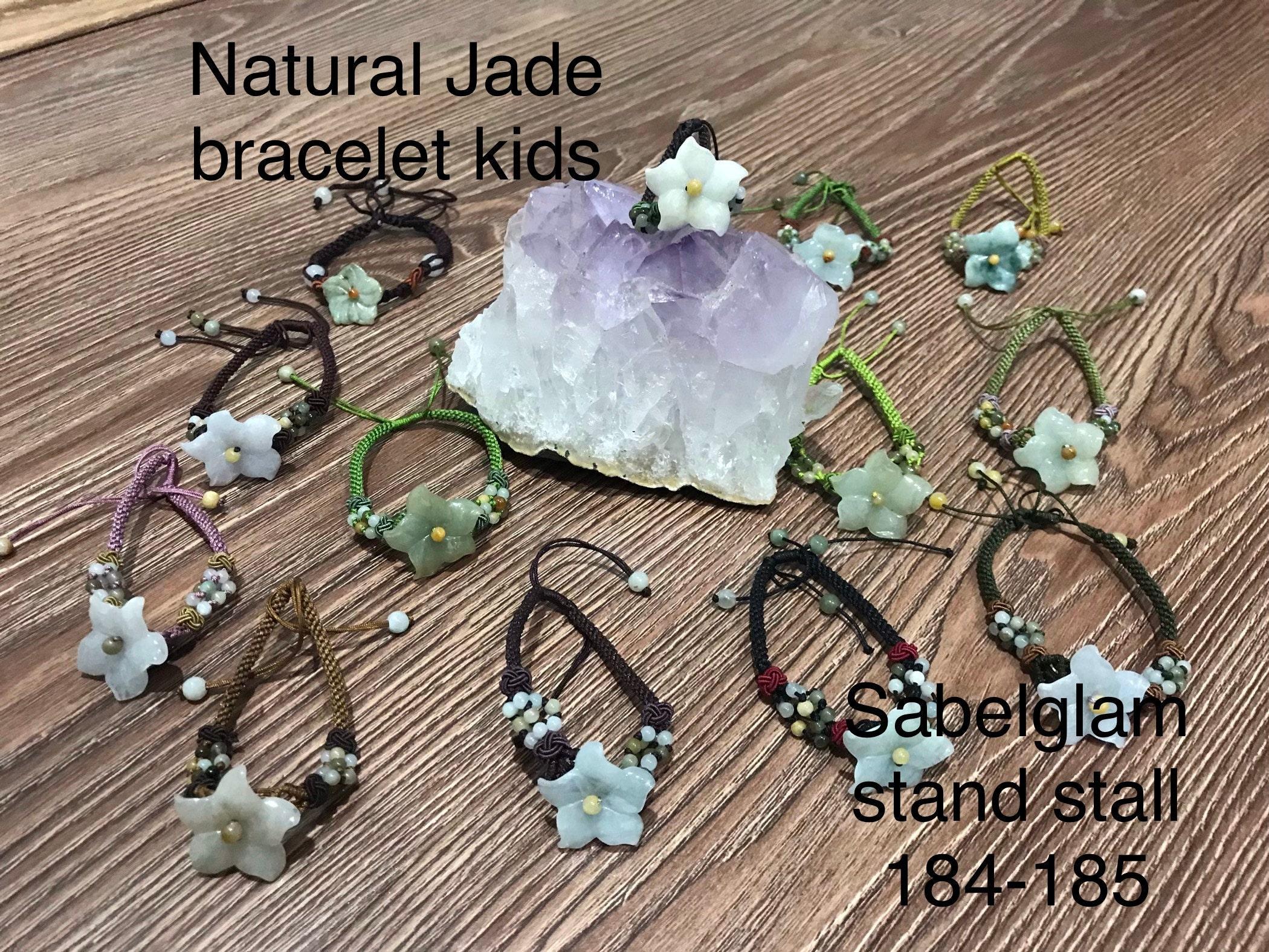 Natural Jade flower bracelet