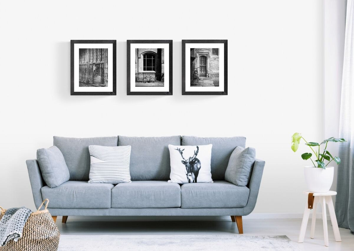 cambridge bicycle prints triptych in custom sizes and finishes- limited editions and ready to hang