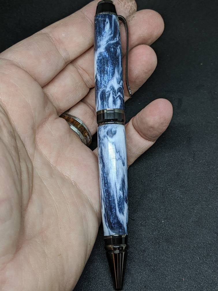 blue diamond cast cigar wood pen