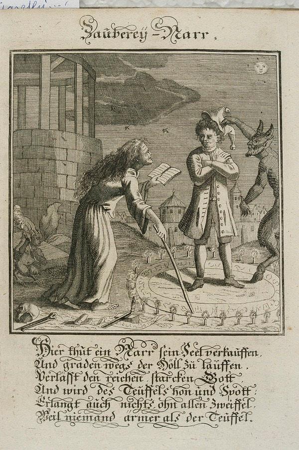 magical ritual - an eighteenth-century engraving