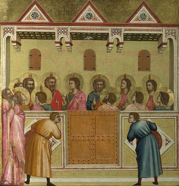 Giotto di Bondone and his workshop, The Pentecost ca 1305-17