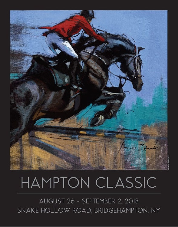 Hampton Classic Poster by Jennifer Brandon