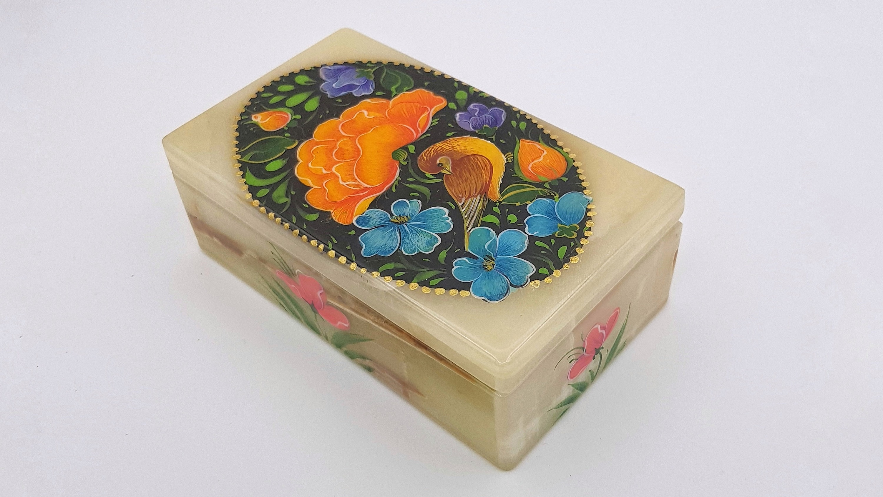 Pasar Team Jewellry Box Hand painted marble stone Etsy shop