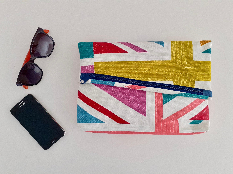 Carol Crossover Clutch Crossbody Union Jack bag