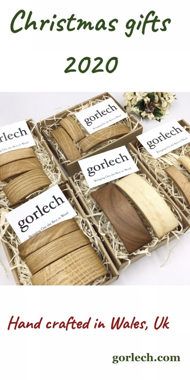 Hair Barrette gift sets from gorlech.com - woodcrafters from West Wales, UK