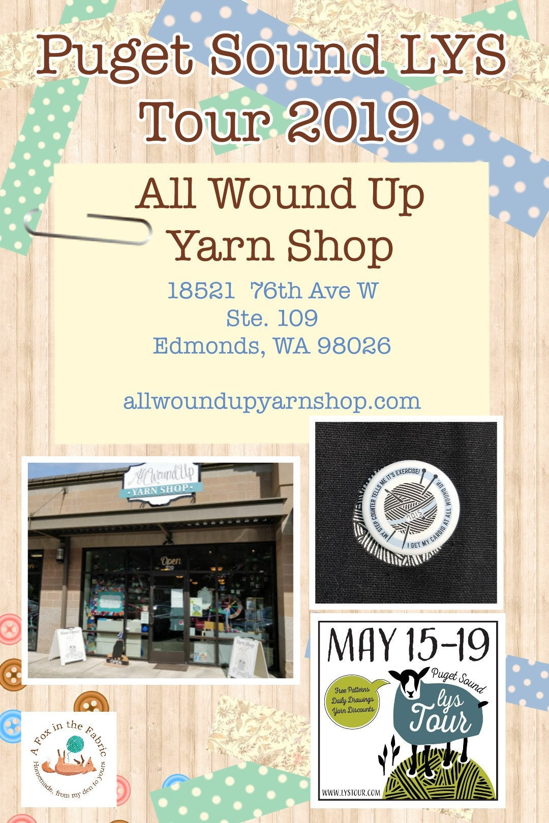 Puget Sound LYS Tour 2019 All Wound Up Yarn Shop