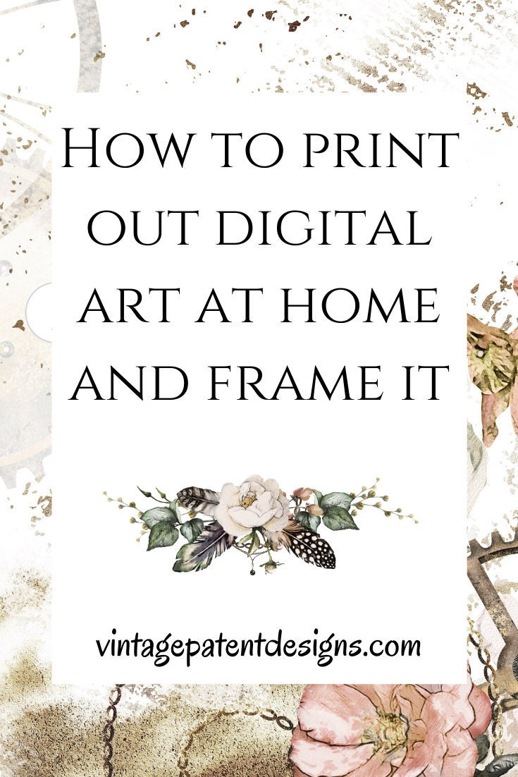 How to print out and frame digital art at home