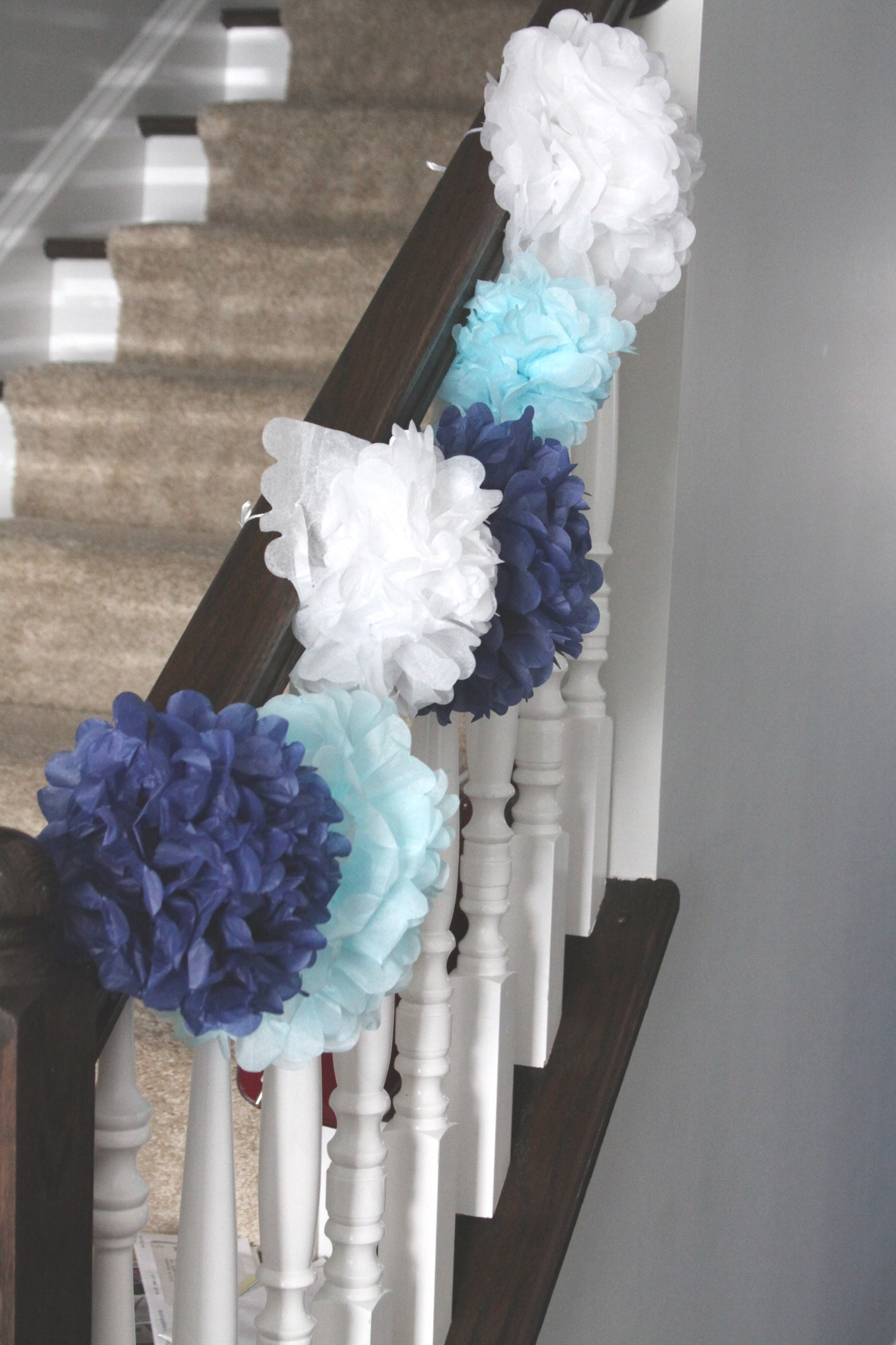 Pom Pom Banister Decorations