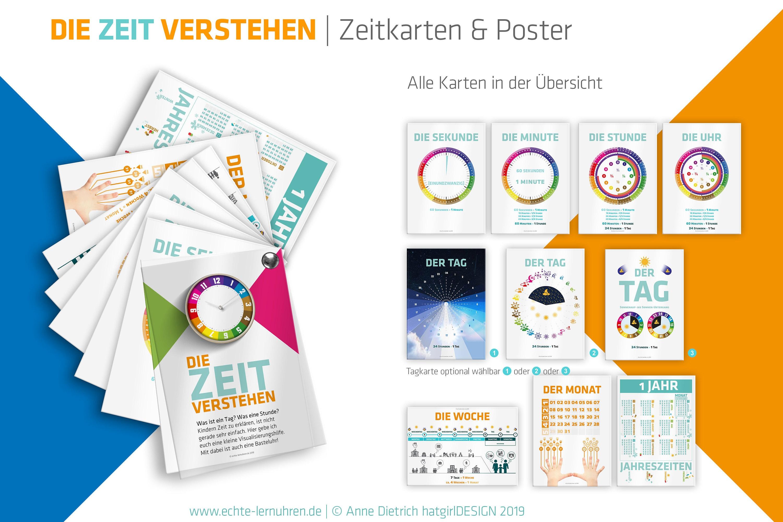Zeitlernkarten und Poster für den Unterricht rund ums Thema Zeit
