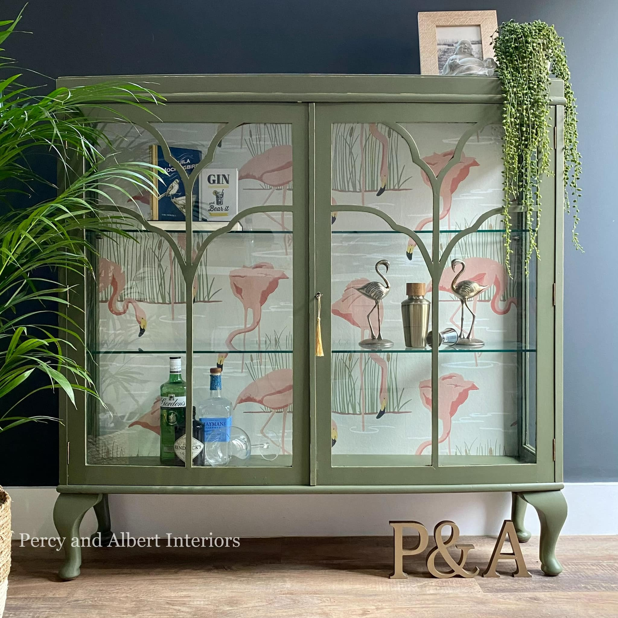 Olive Green Gin Cabinet