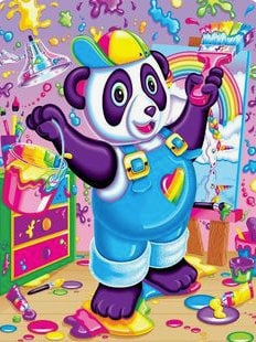 Lisa Frank panda painter