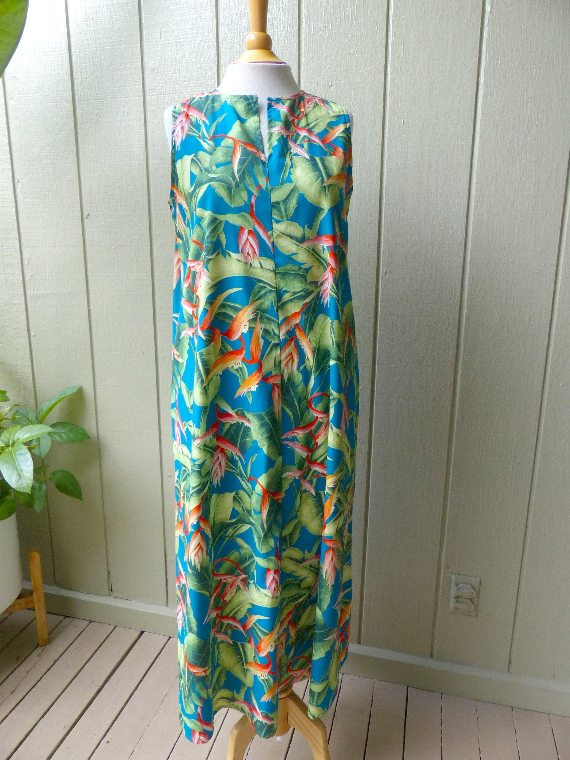 Hawaiian Cotton Long Dress