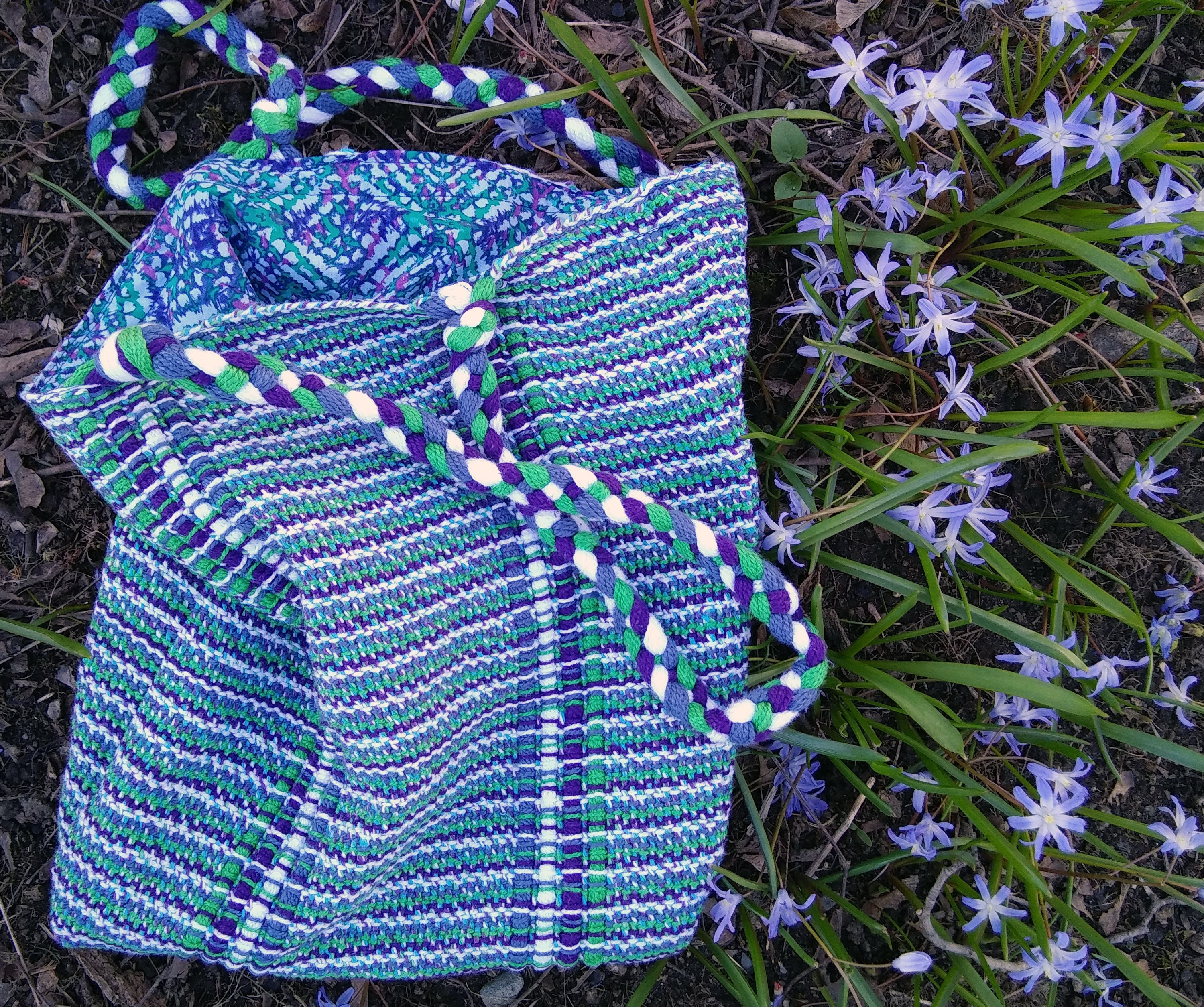 woven bag and squill - kathyzolafiber