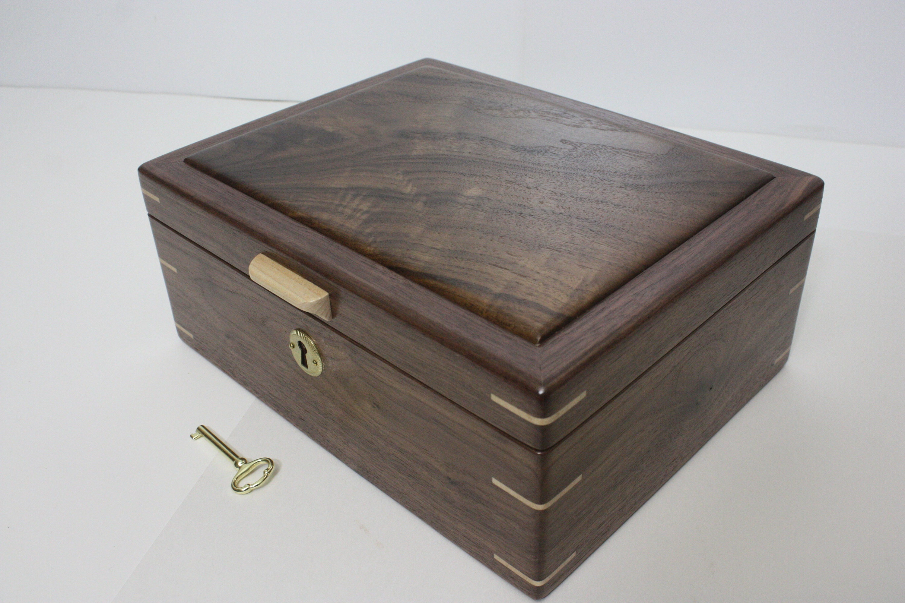 Handmade Locking Walnut Box