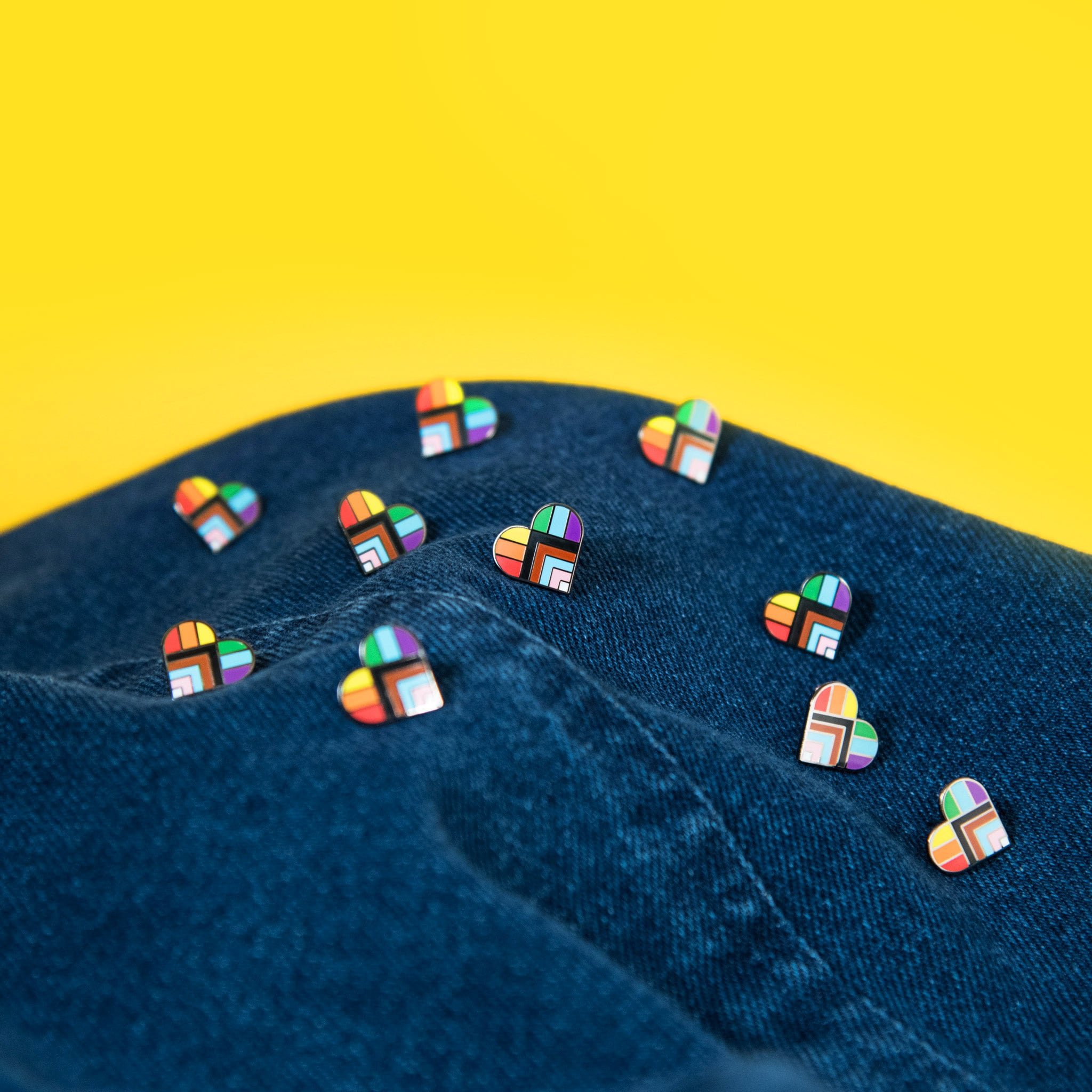 Progress Pride Flag Rainbow Gay Enamel Pin Accessory