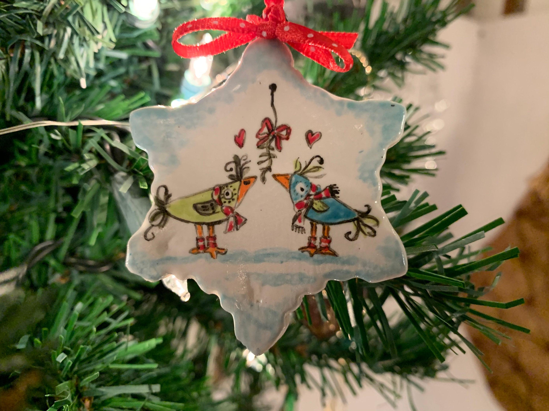Zany Birds under the mistletoe!