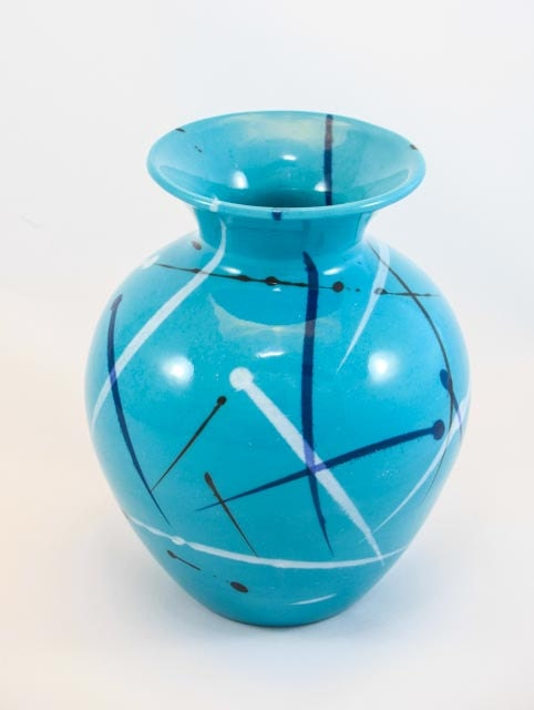 Island Blue Splatter Pottery