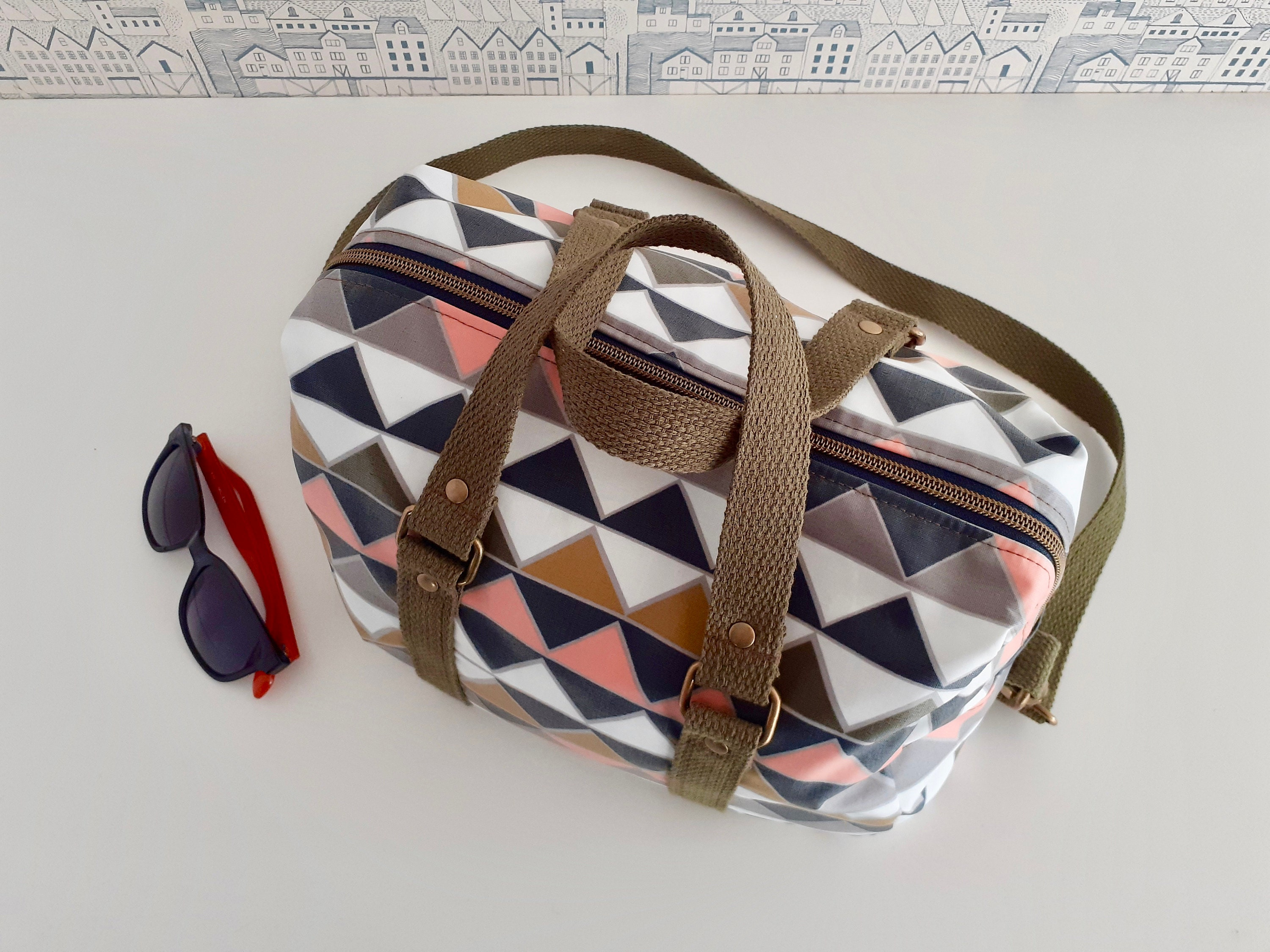 Generous sized holdall perfect for travel and or as an overnight bag