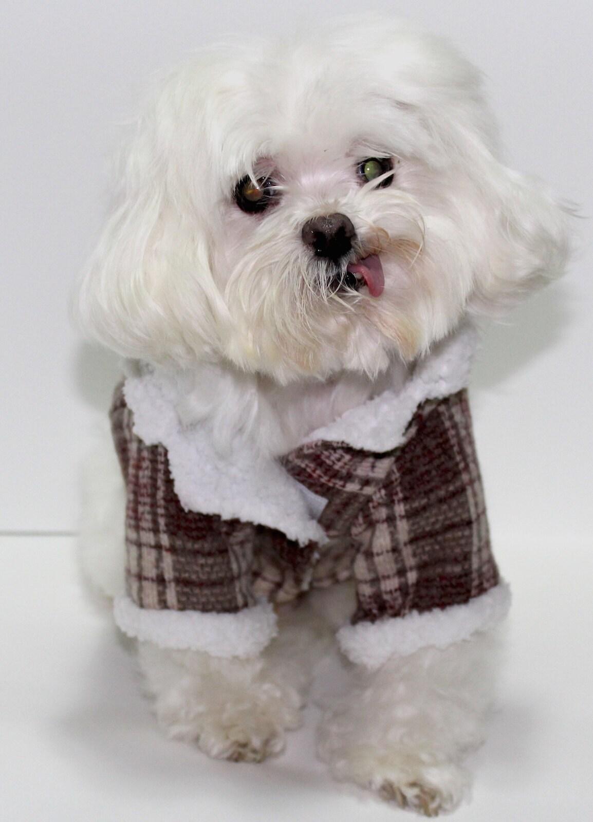 modeling a winter coat