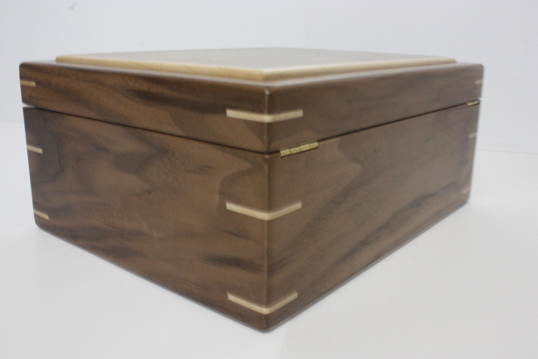 Black Walnut Box with Quadrant Hinges