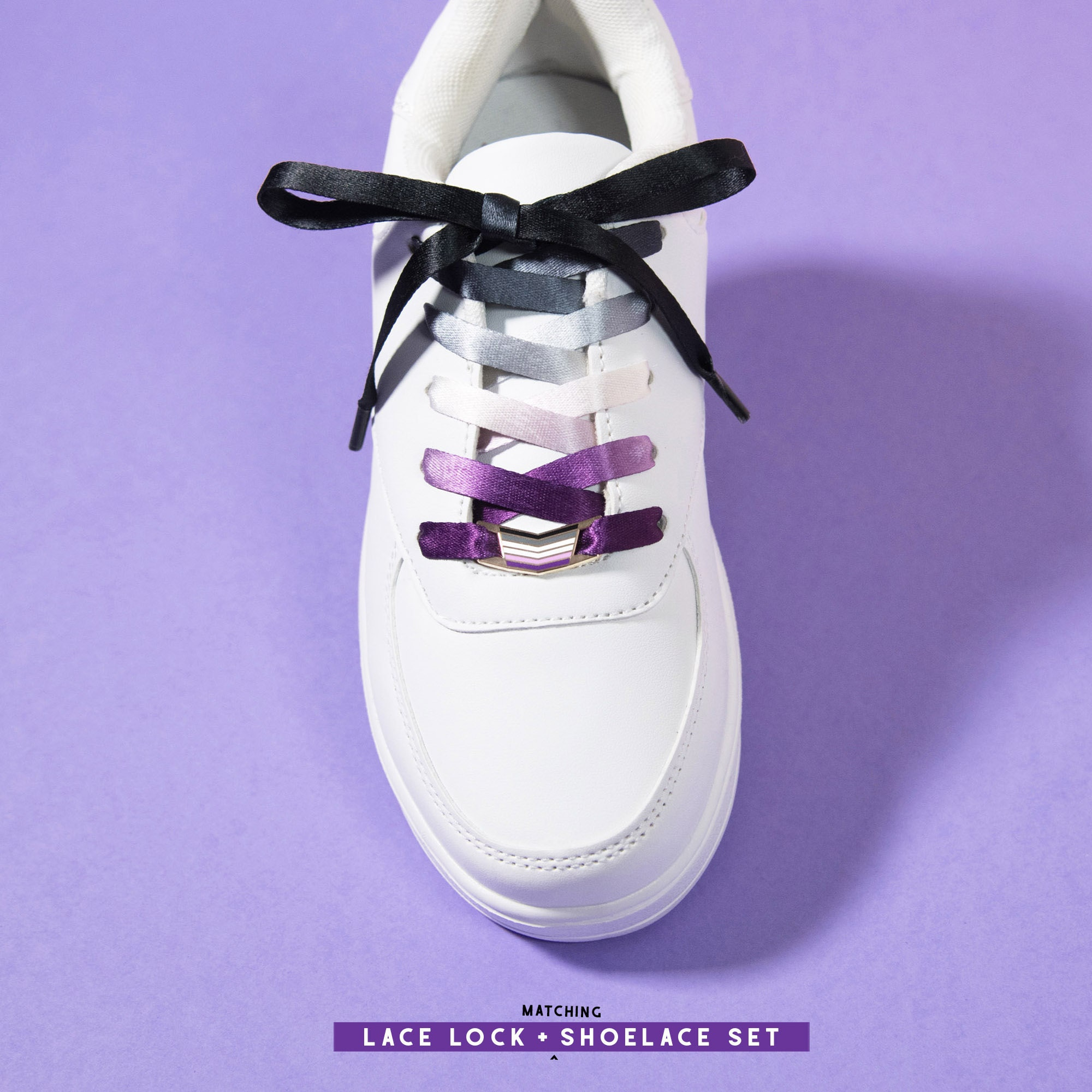 Asexual Pride Shoelaces LGBT Sneakers Shoes