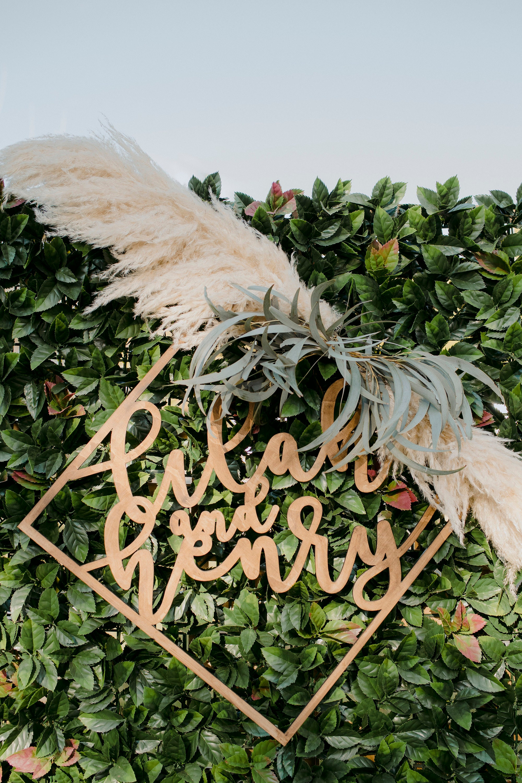Diamond wedding sign
