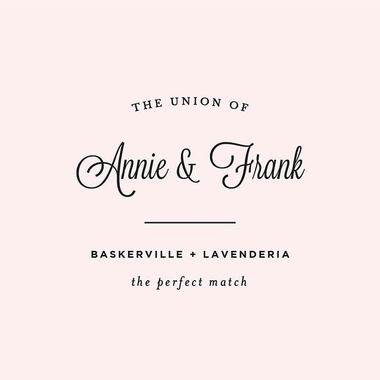 Free Script Wedding Font Pairings