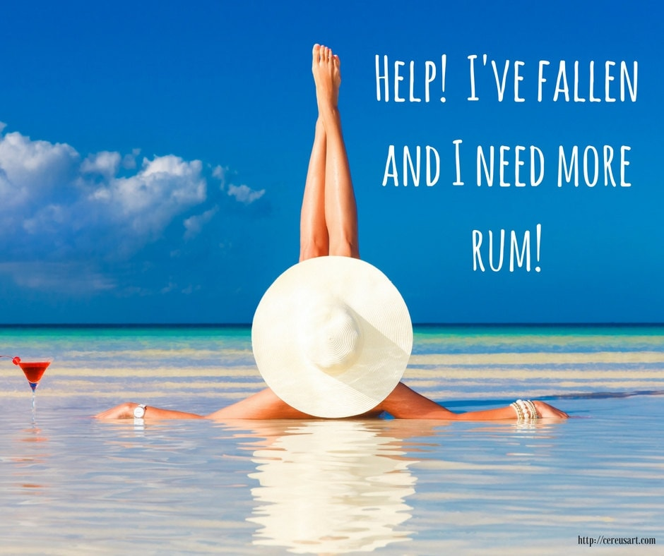 Help!  Ive fallen and I need more rum!