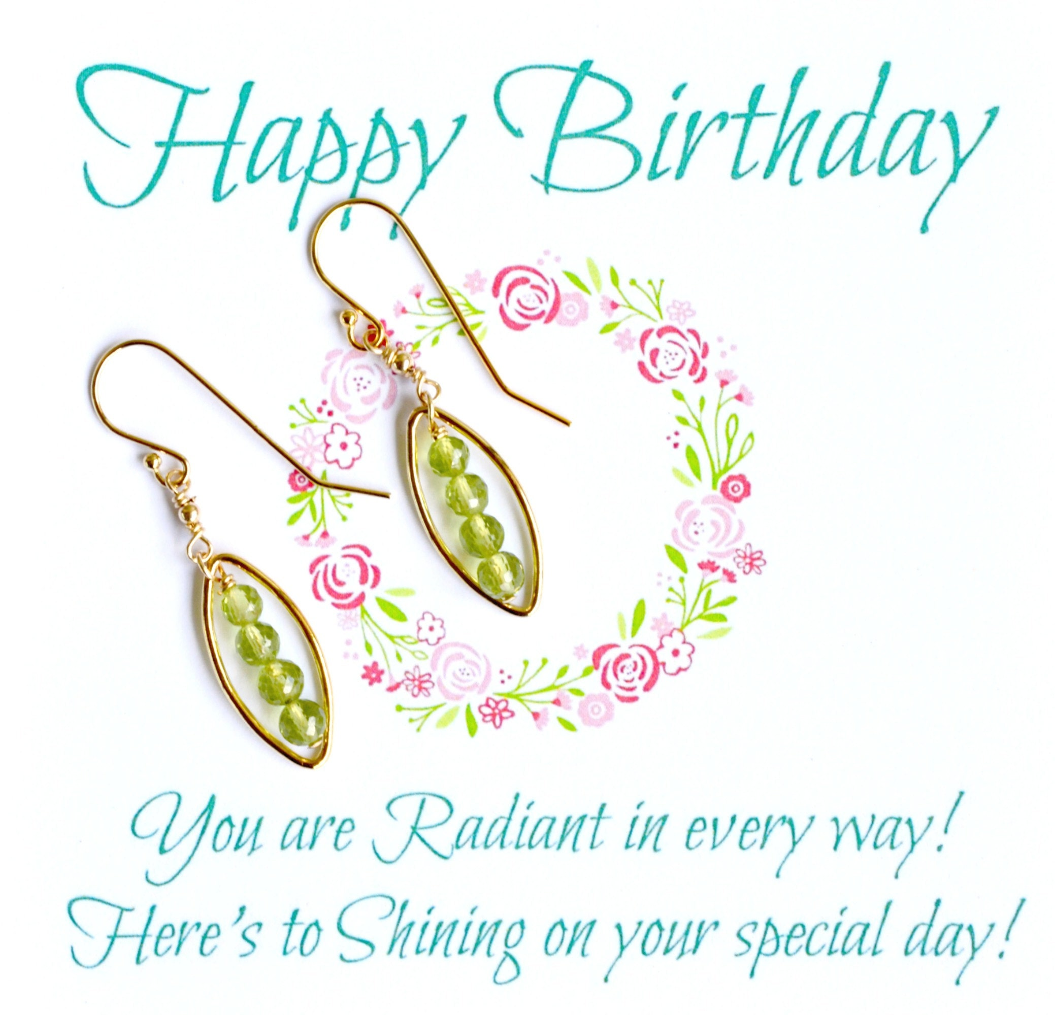 Say an August Happy Birthday with Peridot Jewelry by Barbara Sophia here at Gemstone Jewelry Gifts