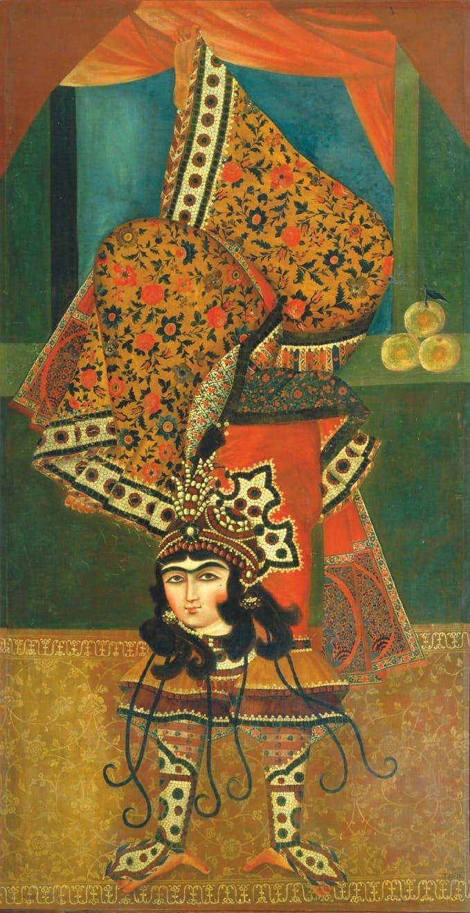 Pasar Team , Female Tumbler , Qajar Painting