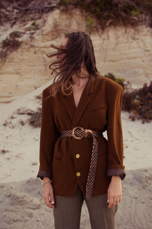 vintage wool blazer, vintage style, vintage look, vestium vintage look