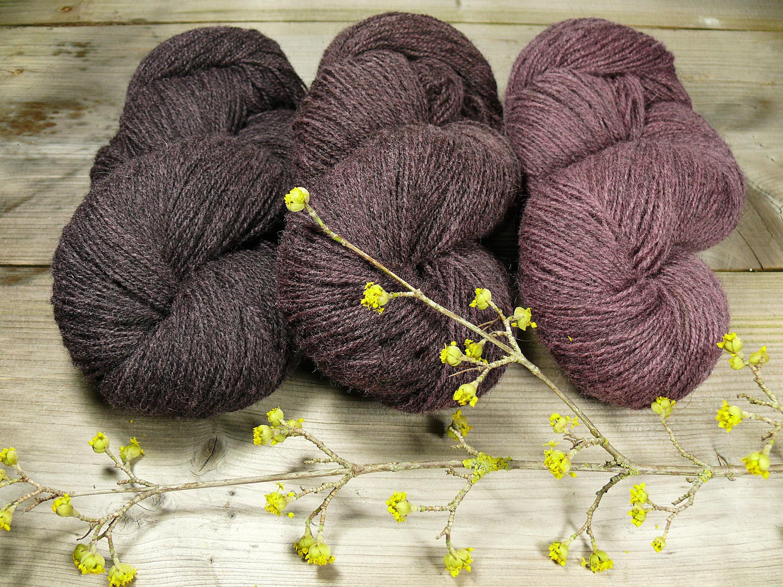 Pommernwolle - natürlich gefärbt Pflanzenfärbung
