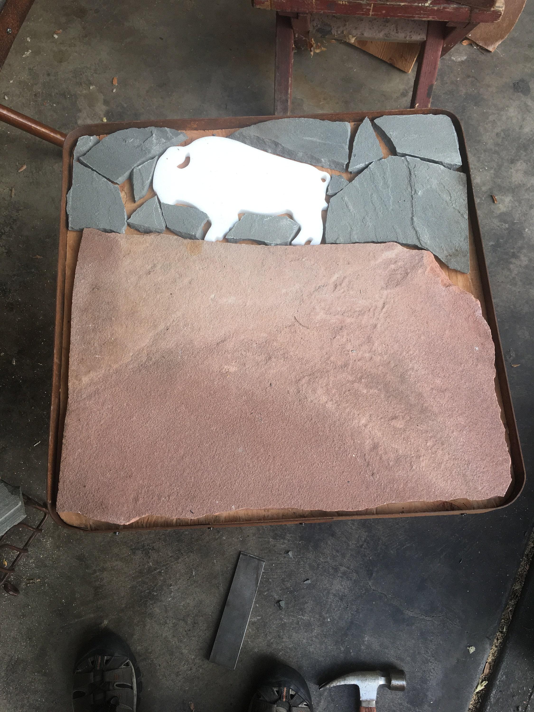 Buffalo table in progress