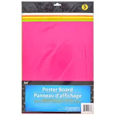 neon fluorescent poster board pack of 5 from Dollar Tree