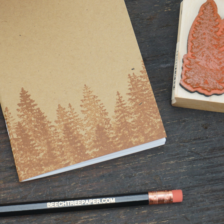 Rubber Stamp Kraft Notebook