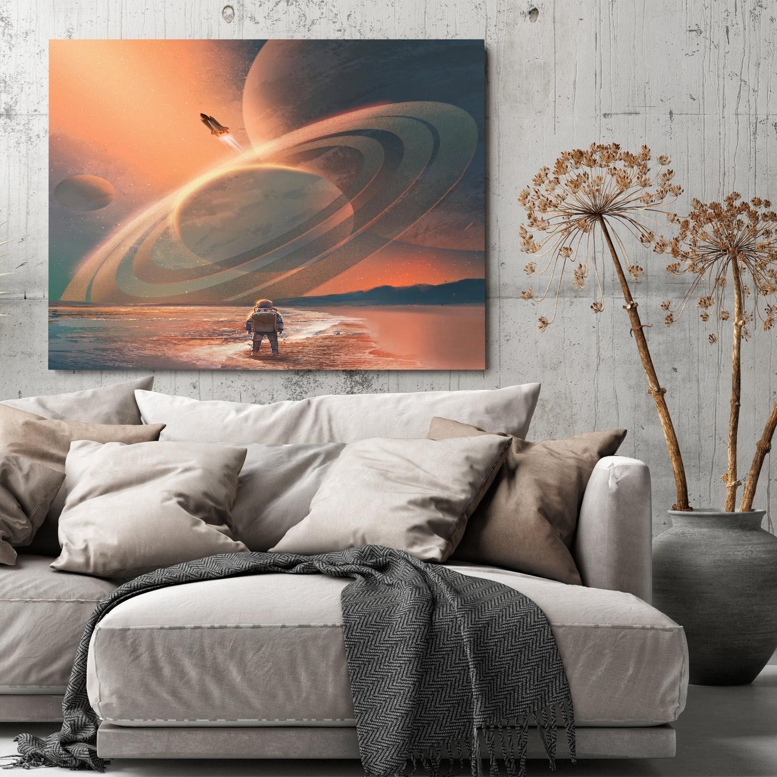 Modern wall art, office wall art, dream gallery wall, Astronaut on the ocean canvas, nasa wall art,