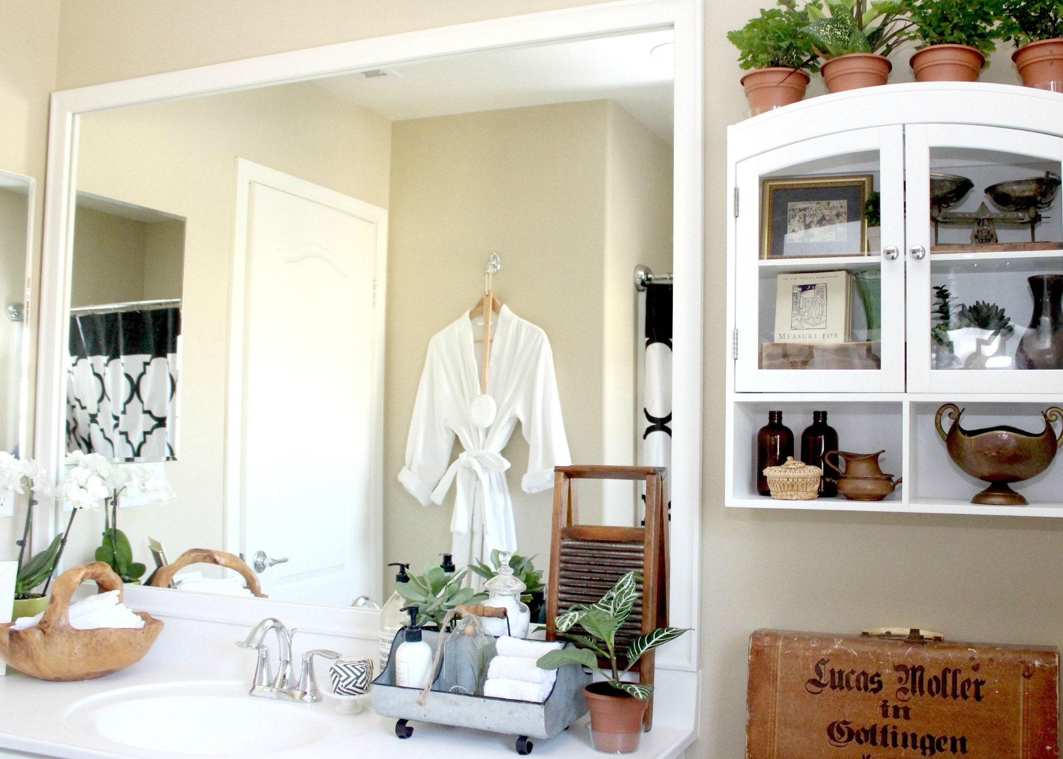 DIY Mirror Frame Kit & Vintage Bathroom Decor