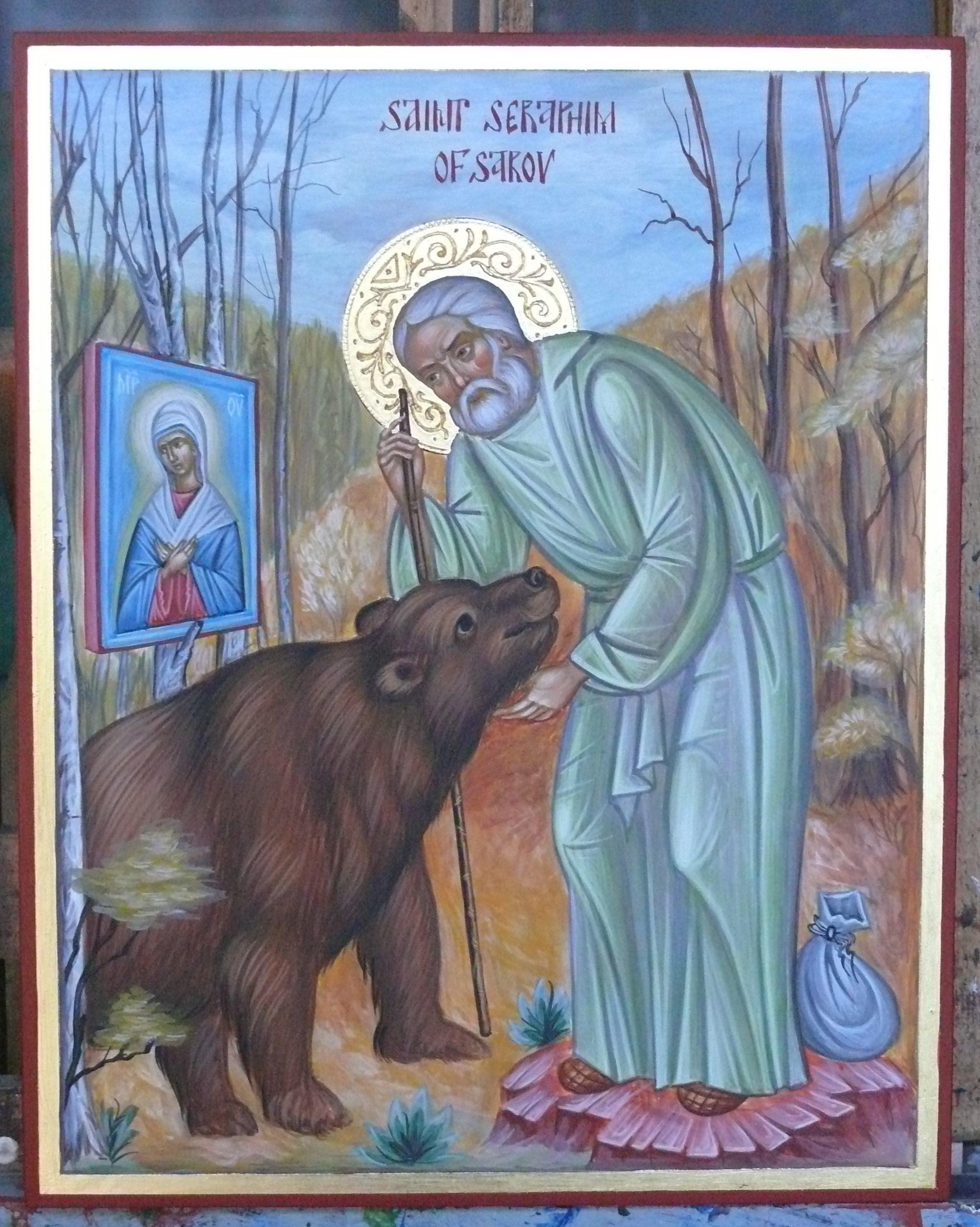 St Seraphim, Joy of all Joys icon