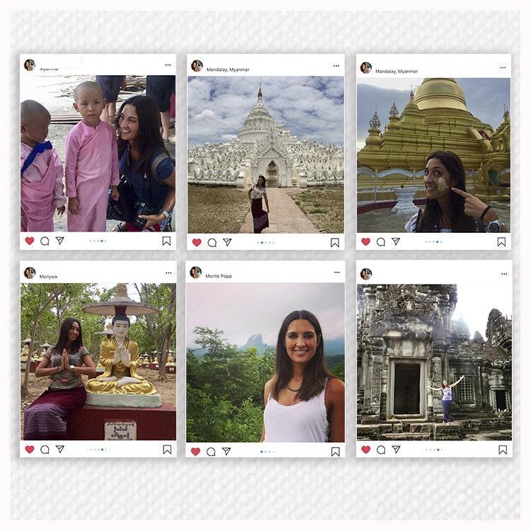 Fotoografía con las imágenes de los paises que ha visitado la periodista Tona Català
