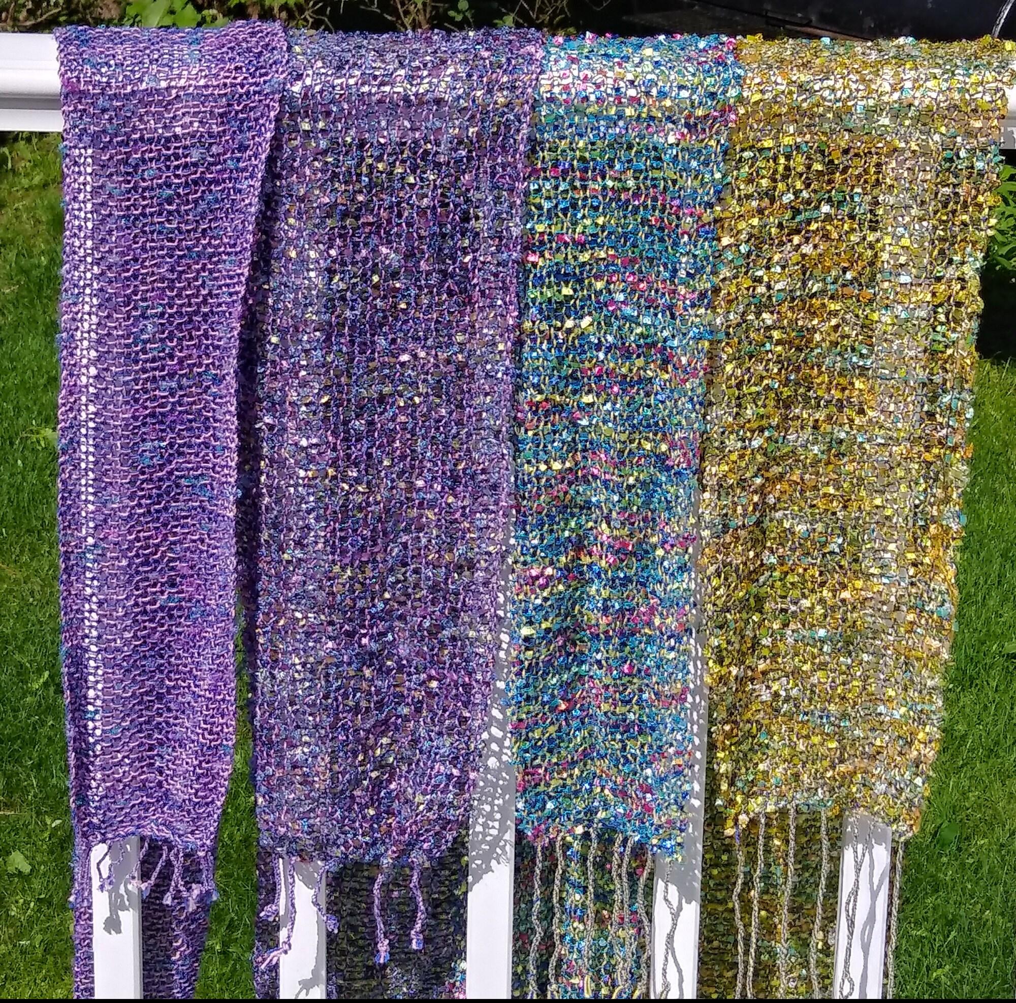 floral color scarves - kathyzolafiber