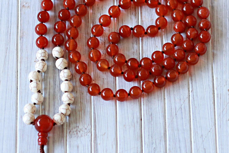 orange chakra mala beads