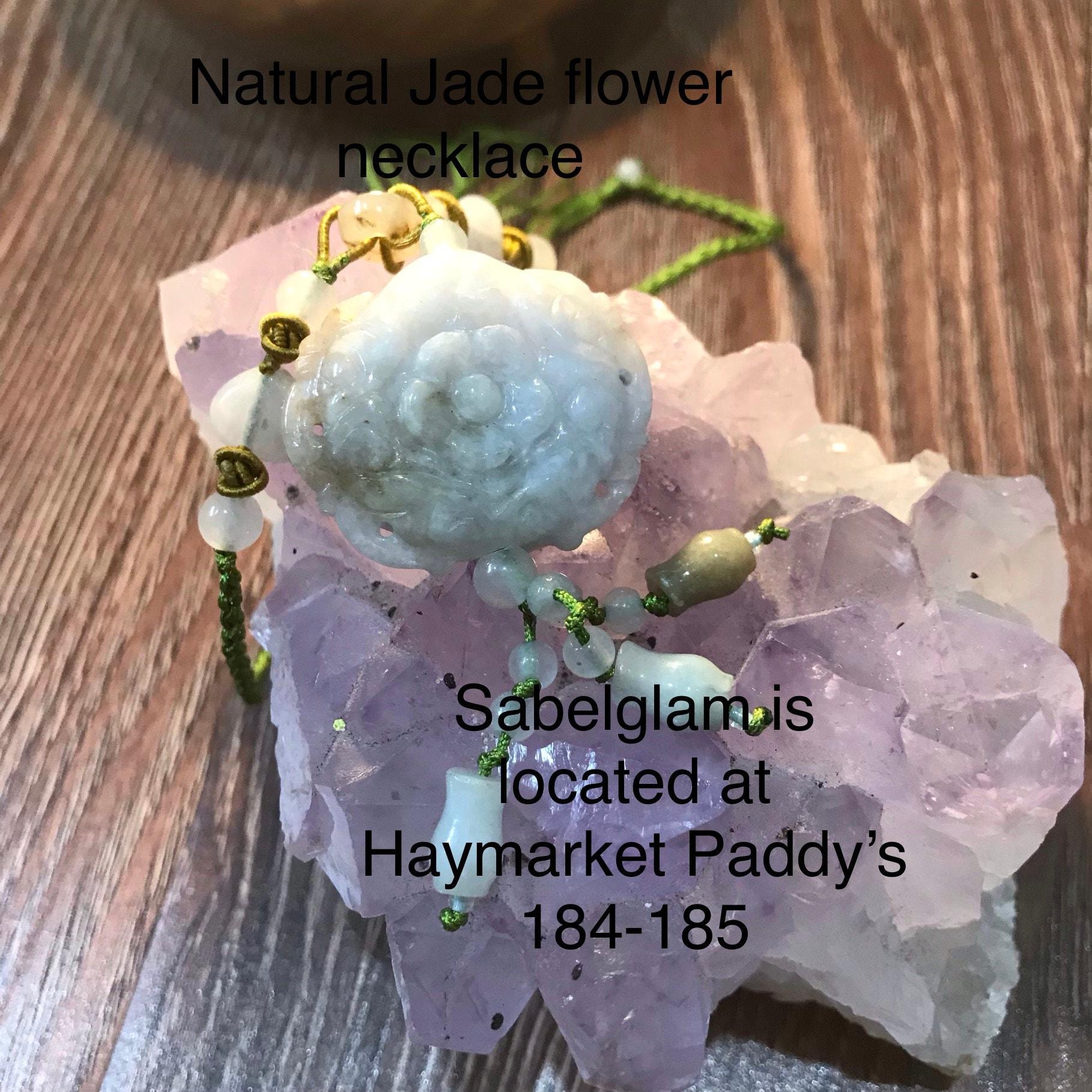 Natural Jade flower  Necklace