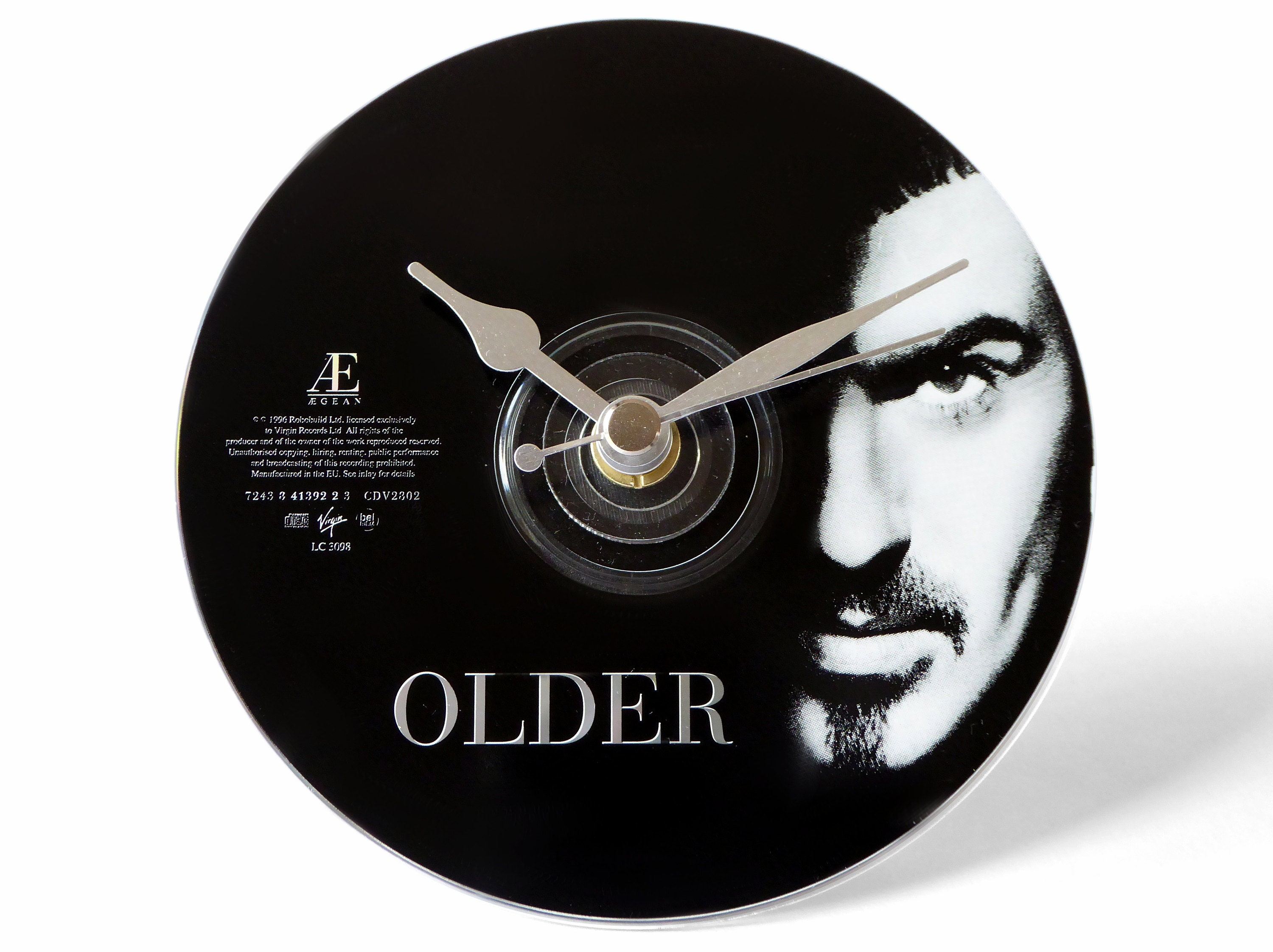 George Michael Older CD Clock and Keyring Gift Set