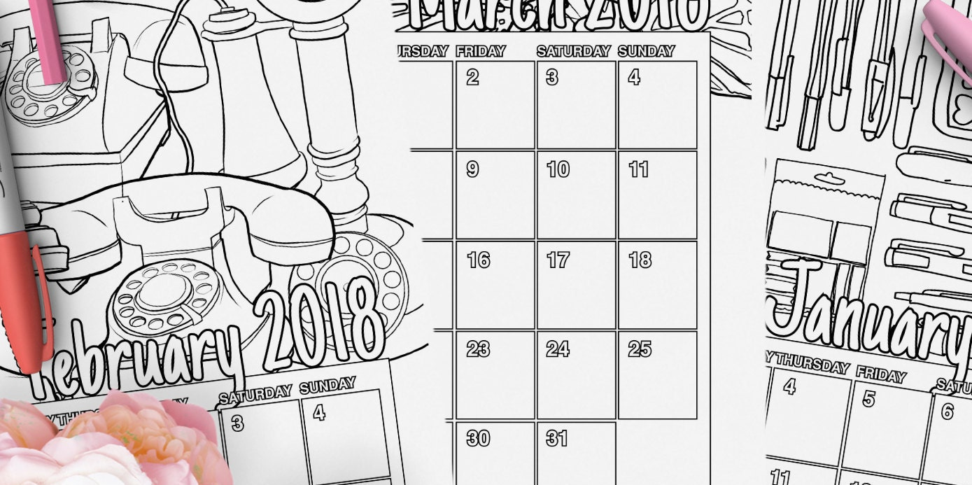 Months of the Year Coloring Pages - Classroom Doodles | 693x1389