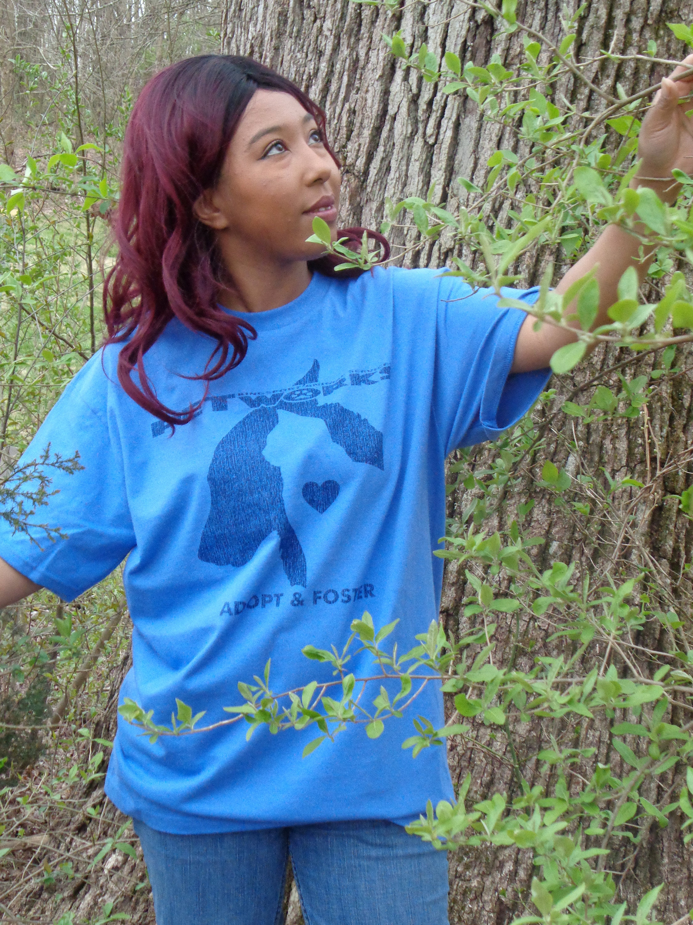 Petworks fundrasier shirt in flo blue!