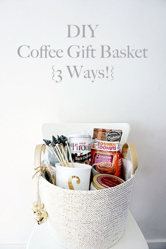 DIY coffee gift basket 3 Ways!