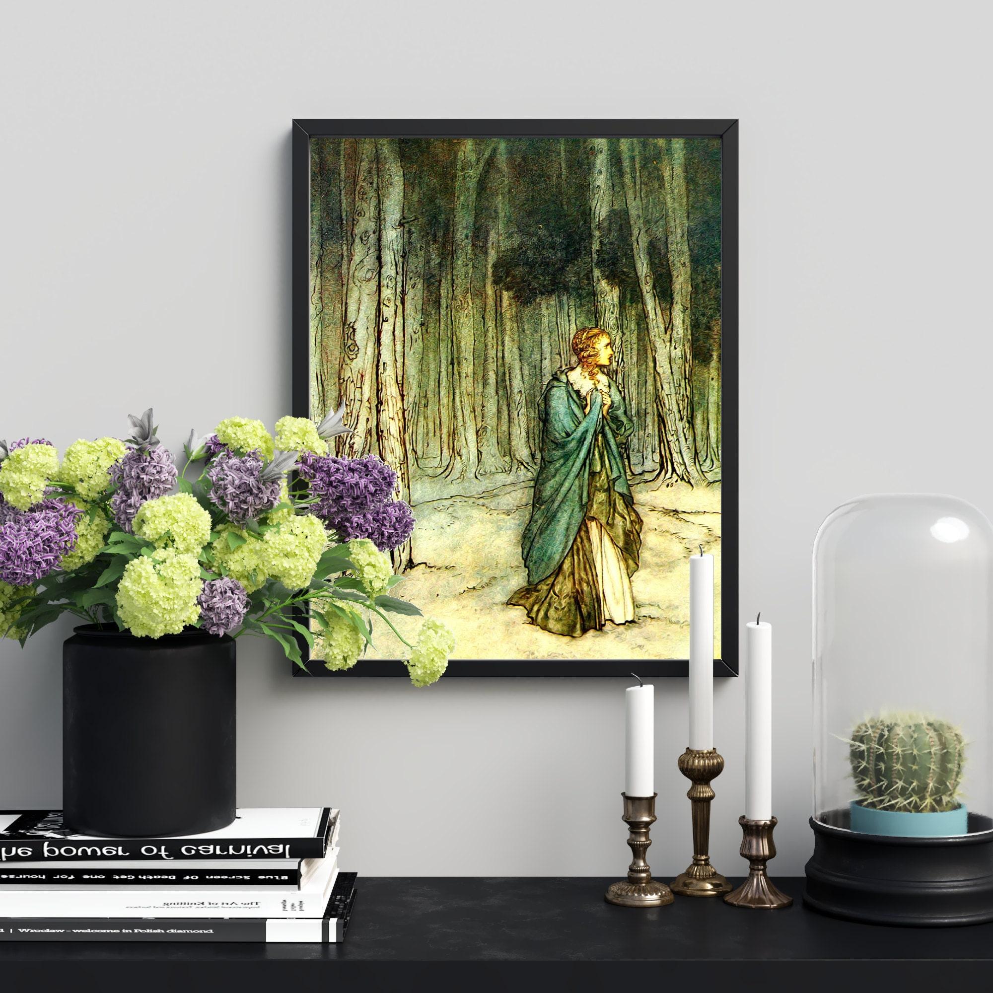 Arthur Rackham - Woman in the Woods
