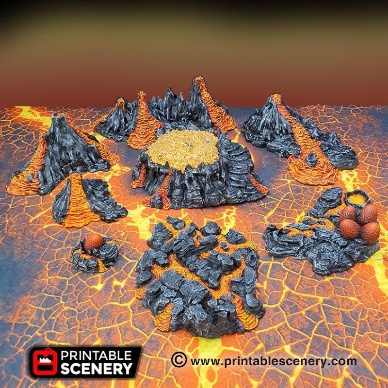 Dragon Lair eggs volcanic terrain