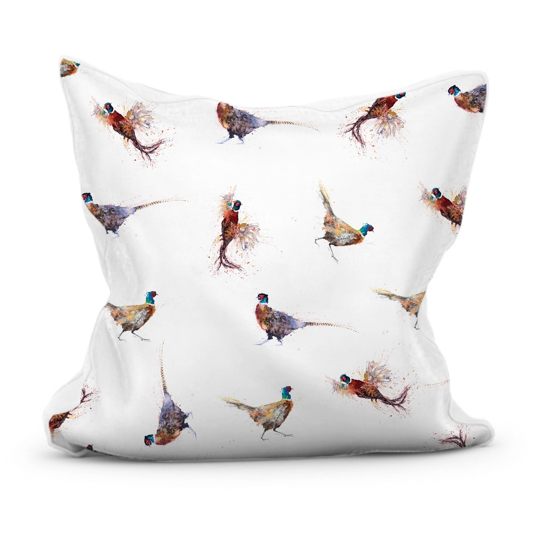 Pheasant Print Cushion