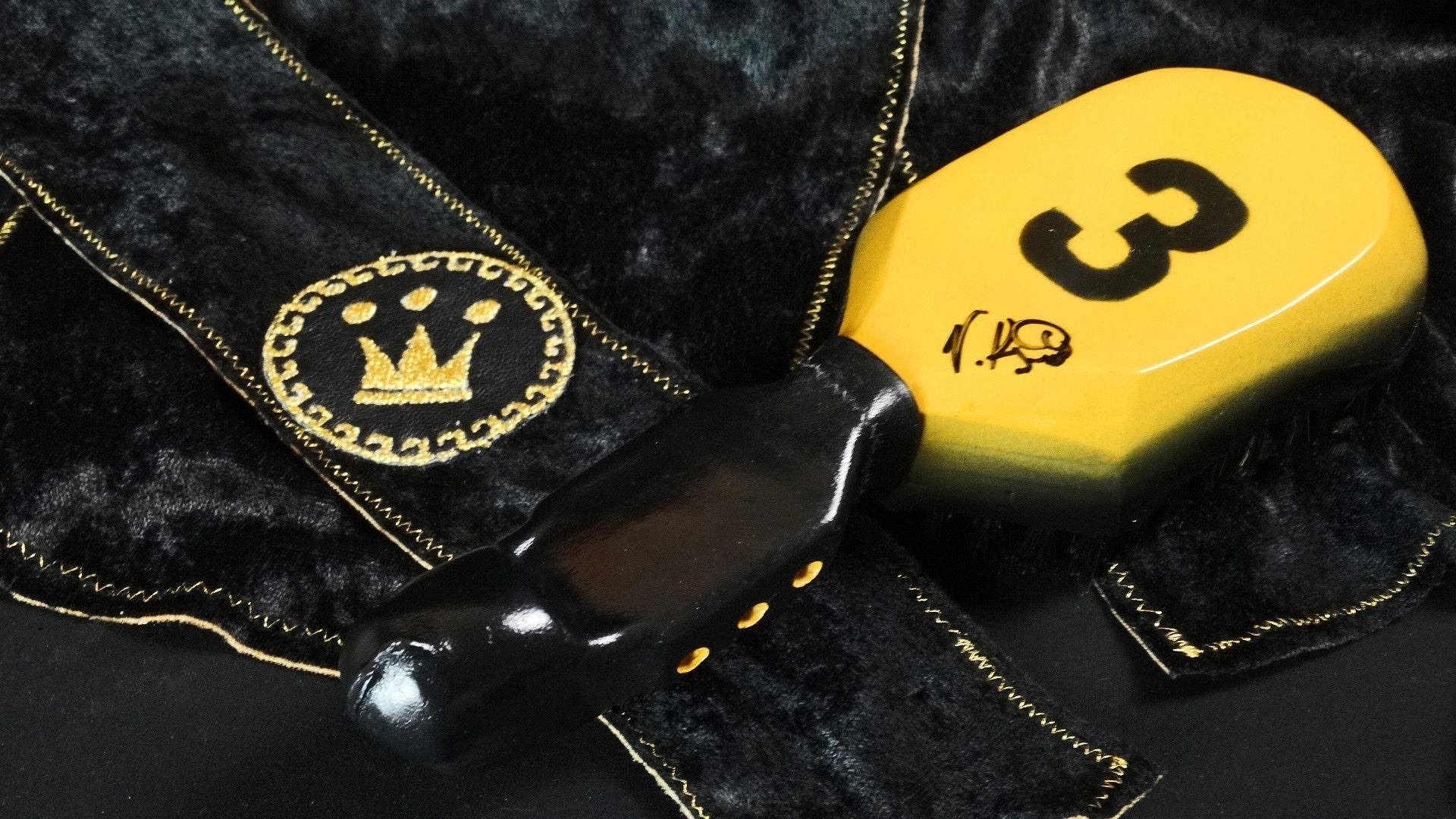 360 Crushed Velvet Fat Lace Custom Du-Rag/Hair Wrap/Turban/Do-Rag - 10 Row King Scorpion Custom 360 Wave Brush Gift Bundle